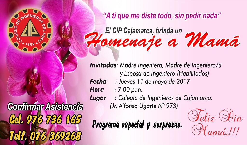 Invitación A Celebración Día De La Madre: INVITACIÓN: Homenaje Por Día De La Madre 2017