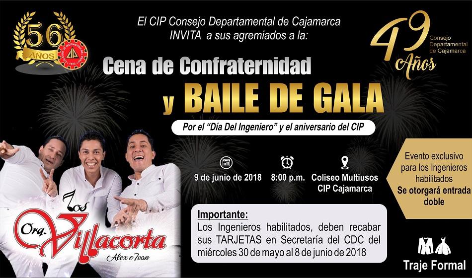 Invitación Cena De Confraternidad Y Baile De Gala Por El